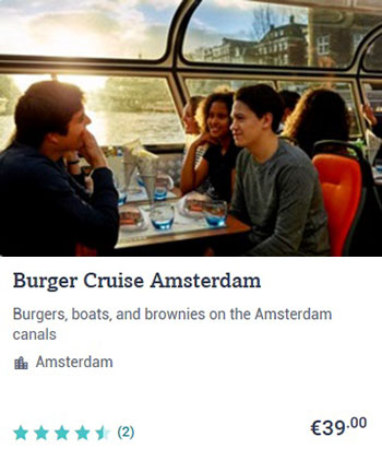 Amsterdam Canal Cruise and Hamburgers