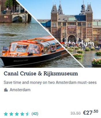 Amsterdam Canal Cruise and Rijksmuseum