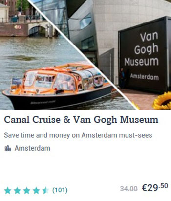 Amsterdam Canal Cruise and Van Gogh Museum