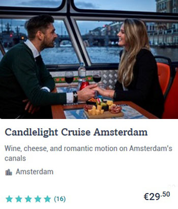 Canal Cruise Amsterdam with Candlelight