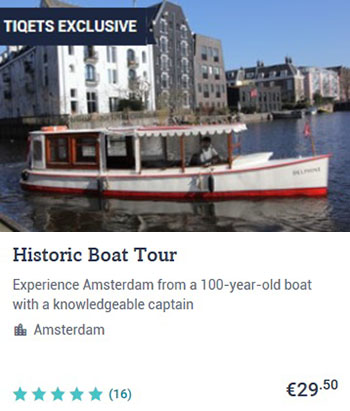 Canal Cruise Amsterdam Historic Boat Tour