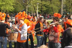Kings Day in the Vondelpark in Amsterdam