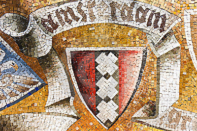Coat of Arms of Amsterdam in ancient mosaic