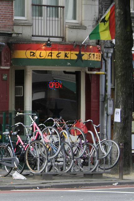 Coffeeshop African Black Star in Amsterdam in the Netherlands