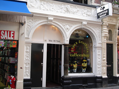 Coffeeshop Blues Brothers in Amsterdam in the Netherlands