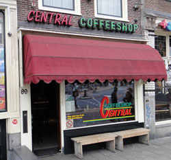 Coffeeshop Central Amsterdam in the Netherlands