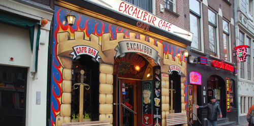 Coffeeshop Excalibur in Amsterdam