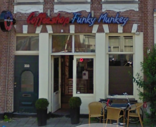 Coffeeshop Funky Munkey in Amsterdam in the Netherlands