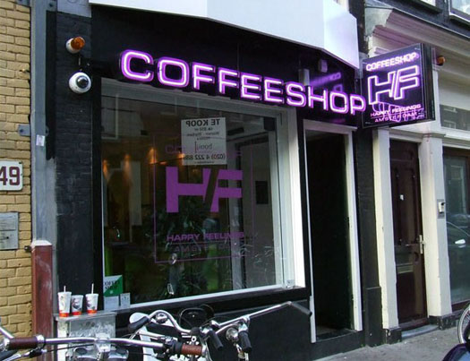 Coffeeshop Happy Feeling in Amsterdam