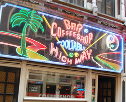 Coffeeshop Highway in Amsterdam in the netherlands