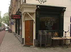 Coffeeshop 't Keteltje in Amsterdam in the Netherlands