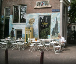 Coffeeshop La Tertulia in Amsterdam in the Netherlands