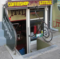 Coffeeshop Little in Amsterdam in the Netherlands