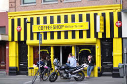 Coffeeshop Mellow Yellow in Amsterdam in the Netherlands