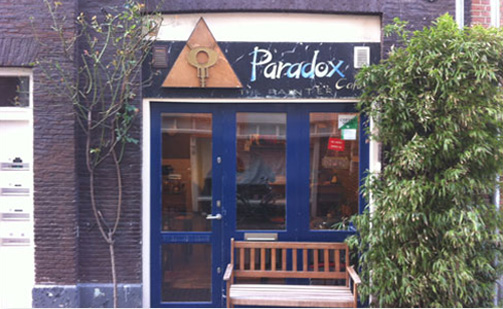 Coffeeshop Paradox in Amsterdam. The Netherlands