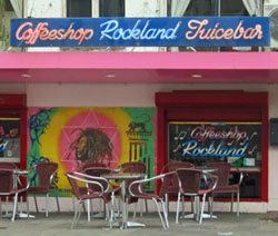 Coffeeshop Rockland in Amsterdam in the Netherlands