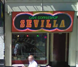 Coffeeshop Sevilla in Amsterdam in the Netherlands