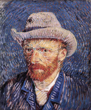 Self portrait of Vincent van Gogh in 1887