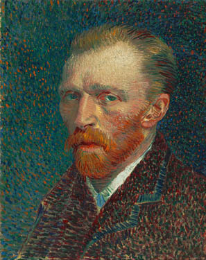 Self portrait of Vincent van Gogh in spring 1887