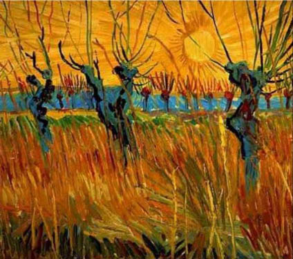 Willows at Sunset by Vincent van Gogh