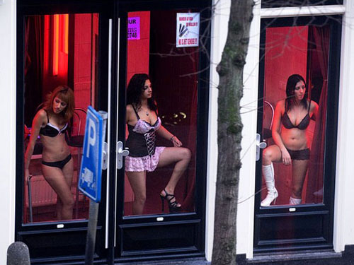 Window prostitution in the Red Light District in Amsterdam